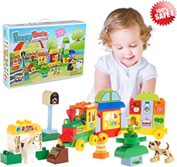 Gamzoo Big Train Building Block Toy Playset