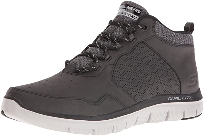 Amazon.com | Skechers Sport Mens Flex Advantage High Key 2.0 Mid Sneaker | Shoes