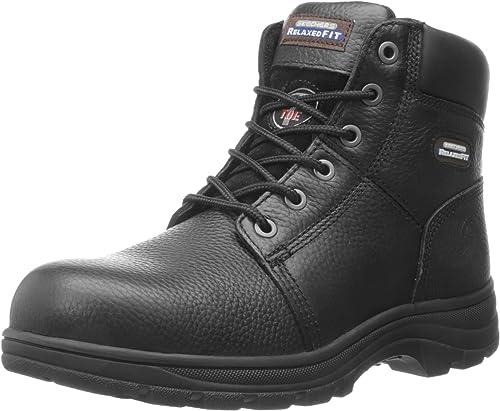 Skechers Men's Workshire 6'' Work Boots Steel Toe Black Size 10.5(M)