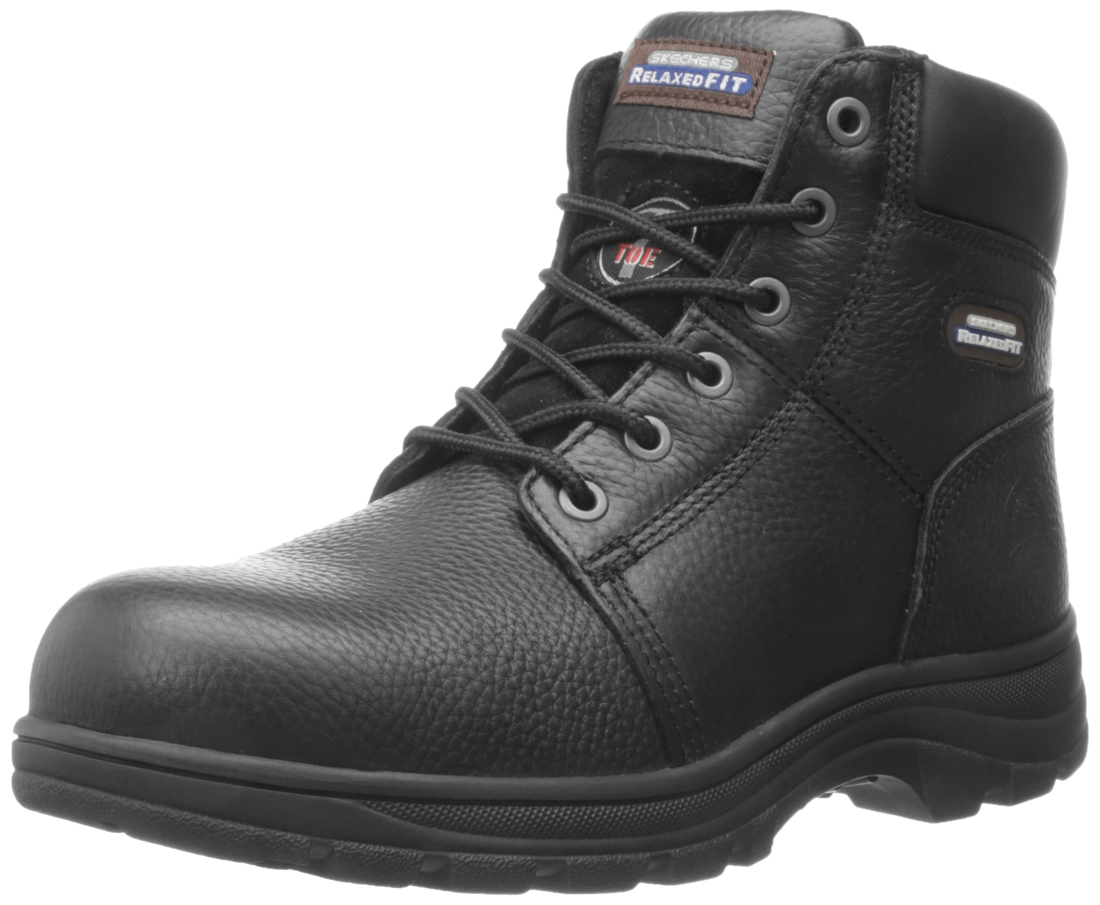 Skechers for Work Men's Workshire Relaxed Fit Work Steel Toe Boot,Black,10.5 W US by Skechers