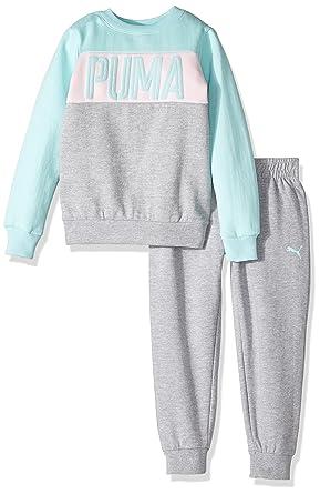 Amazon Com Puma Girls Two Piece Sweatsuit Set Clothing