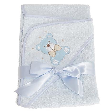 Snuggle Baby - Toalla con capucha y diseño de osito para bebés (75cm x 75cm