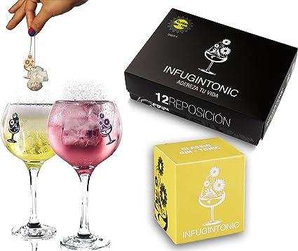 Infugintonic - Estuche reposición - Infusiones para Ginebra, Ron y Vodka (Classic Gin-Tonic) - 12 unidades: Amazon.es: Alimentación y bebidas