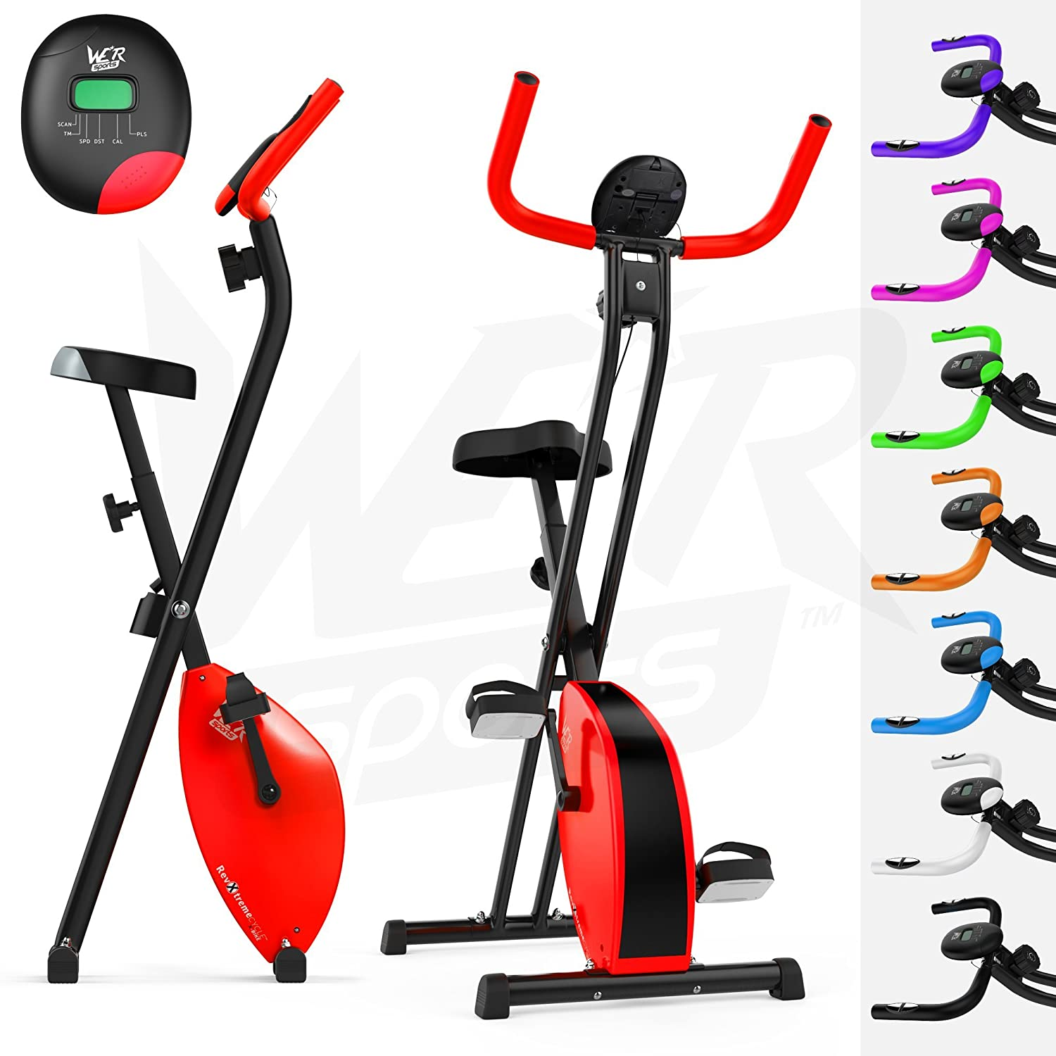 Folding Magnetic Exercise Bike X-Bike Fitness Cardio Workout Weight Loss Machine We R Sports