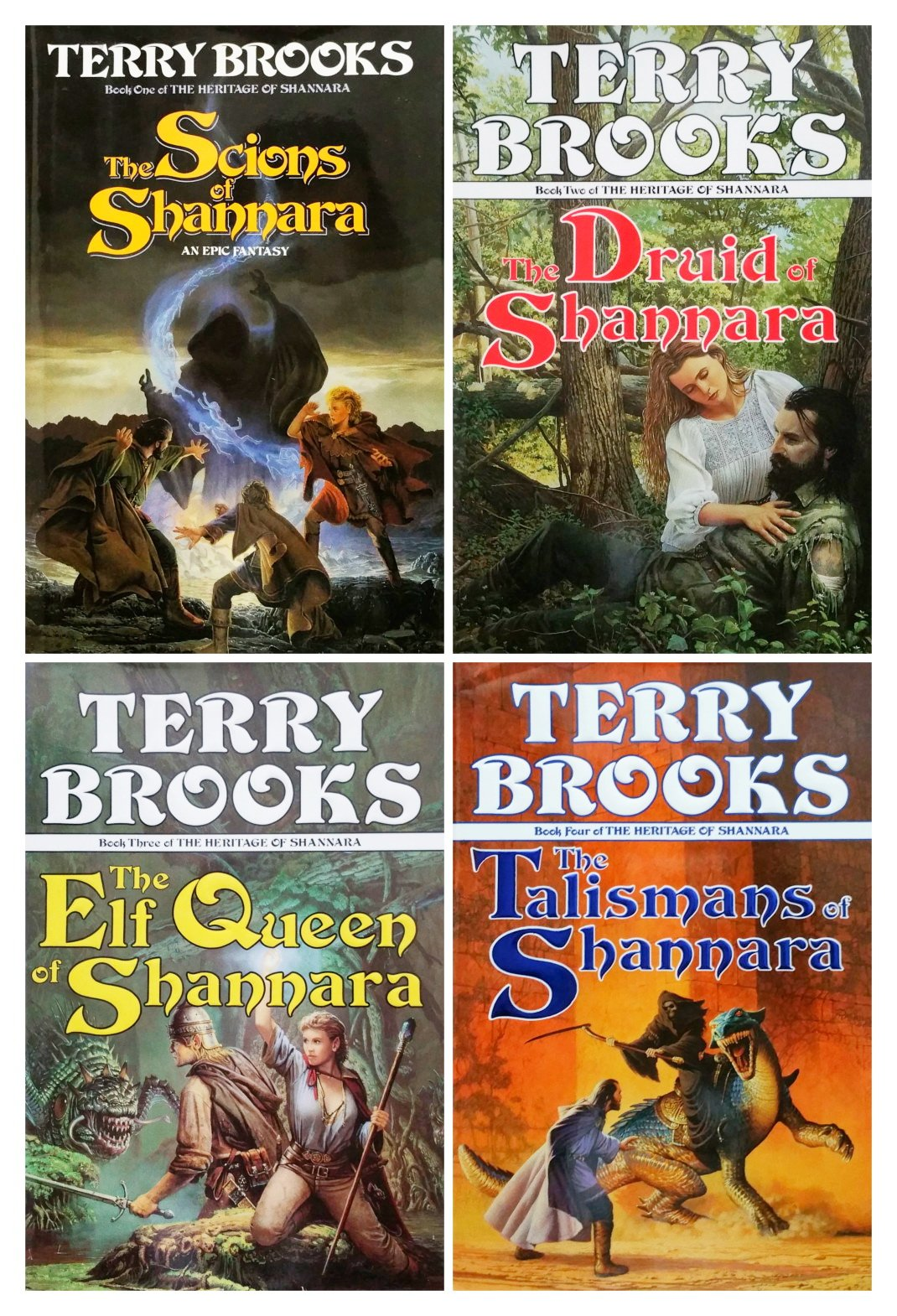 d1aba9781e8 The Heritage of Shannara Hardcover 4 Book Set  Scions   Druid   Elf Queen    Talismans of Shannara Hardcover – 1990