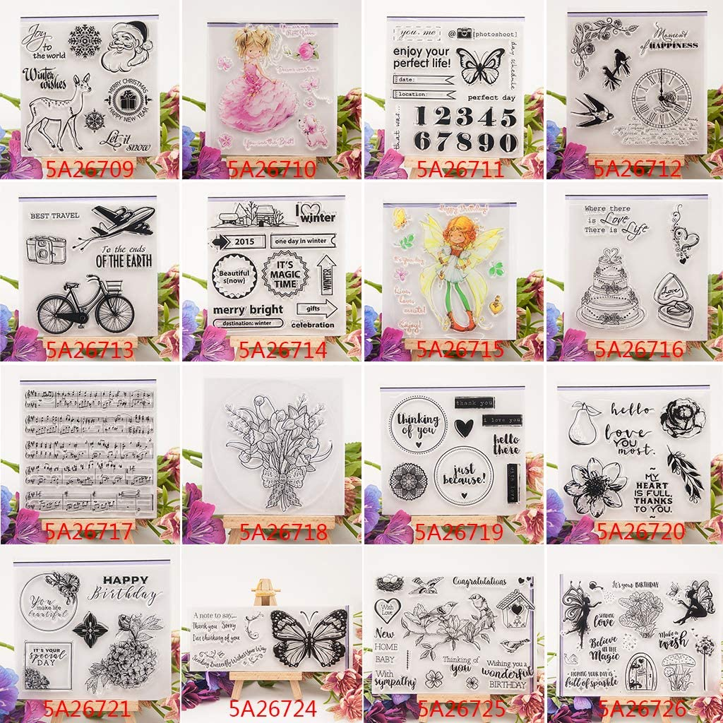 Thobu Clear Stamps Planner-Clear Silicone Rubber Seal Stamp for DIY Album Scrapbooking Photo Card Decor