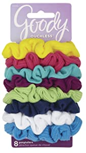 Goody Women's Hair Ouchless Jersey Variety Scrunchies, 8 Count