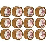 Packatape® - 12 rouleaux de ruban d'emballage marron de 48 MM x 66 M pour colis et boîtes de bande de conditionnement