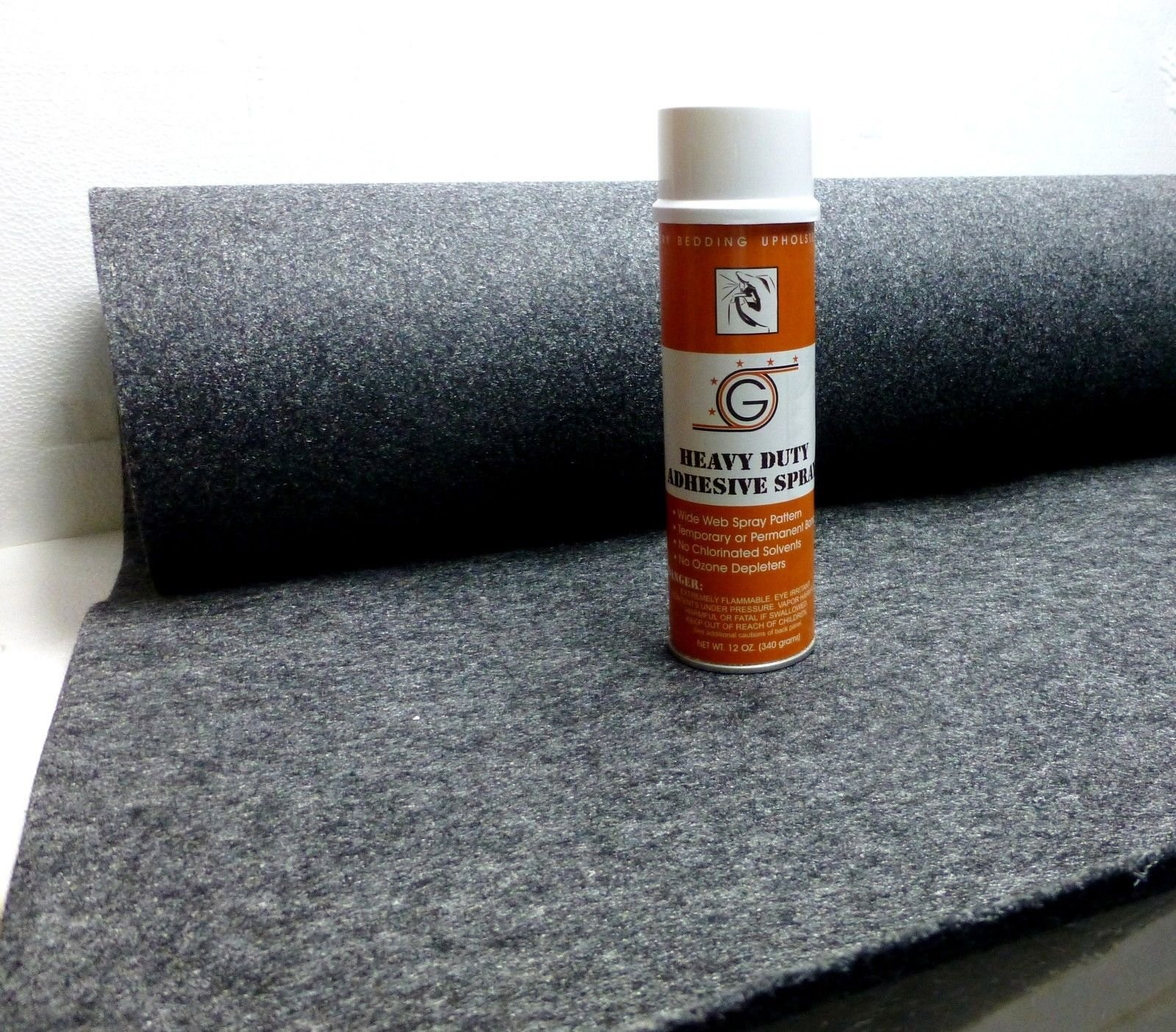 4ft x 15ft Grey Speaker Box Carpet + Spray Adhesive by ZXPC (Image #1)