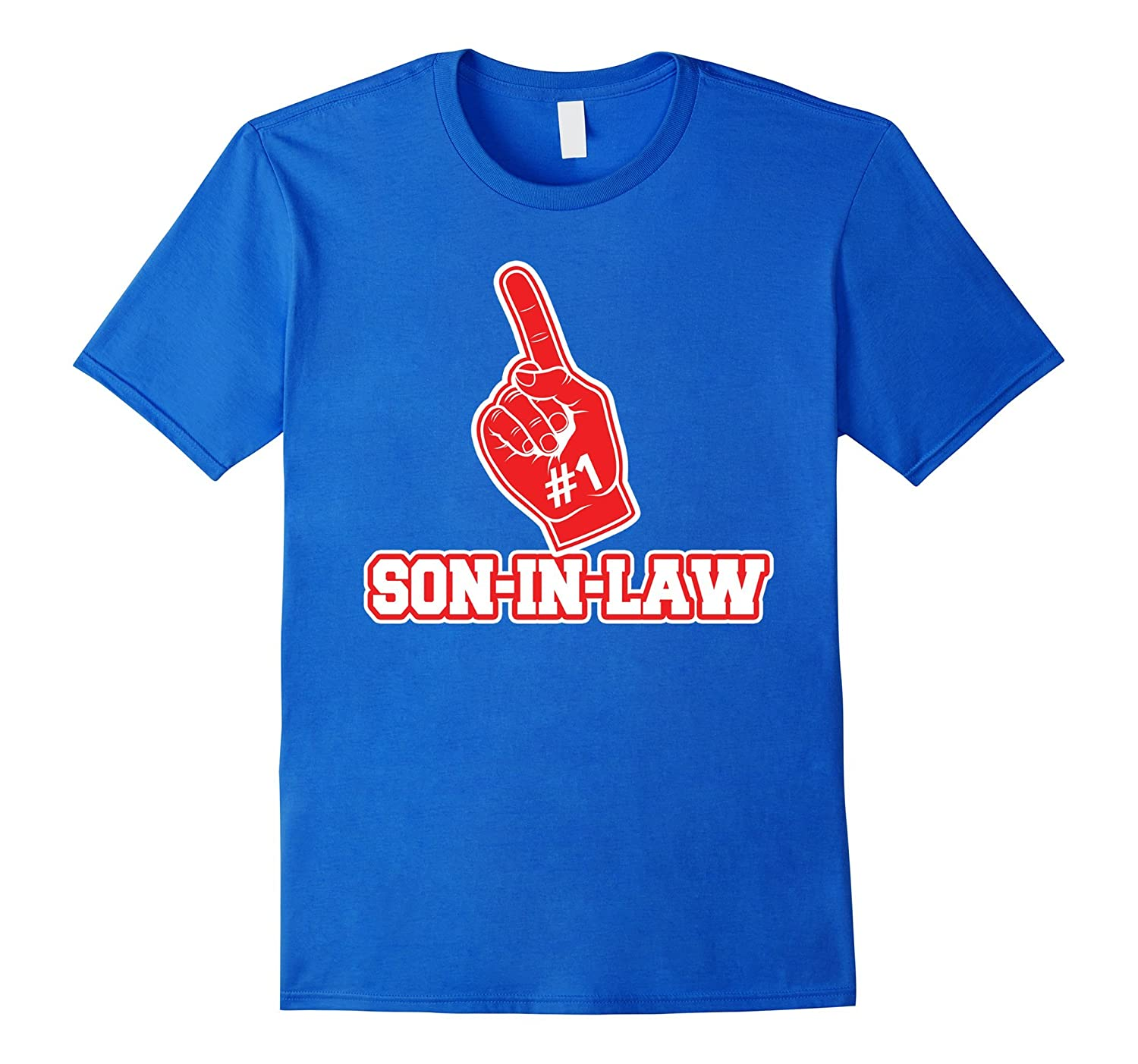 #1 Son-in-Law T Shirt - Number One Foam Finger Gift Tee-CL