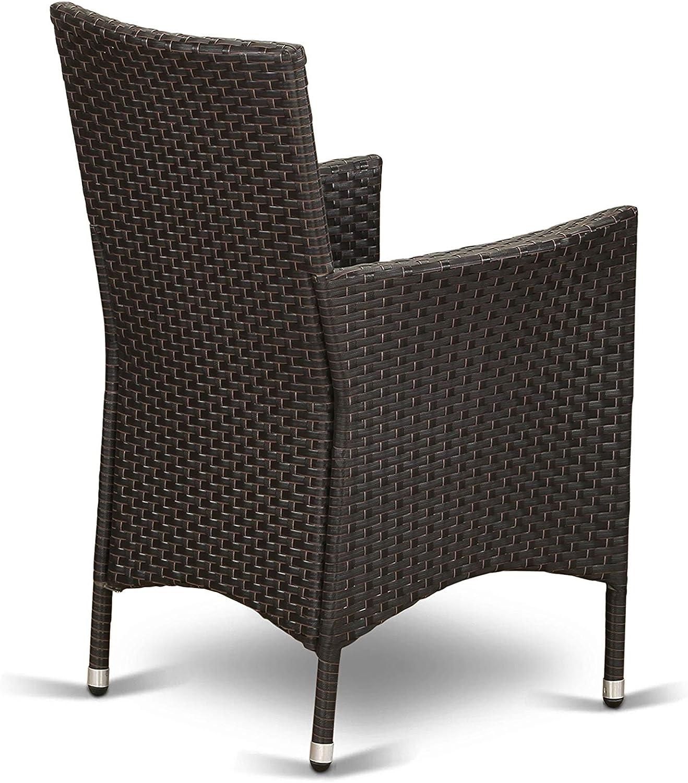 Outdoor Wicker Patio Chair in Cream Finish