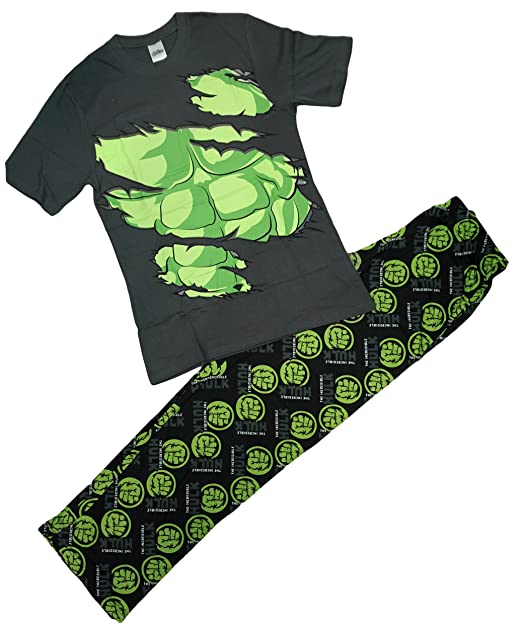 Incredible Hulk - Pijama - para Hombre Gris Gris Small