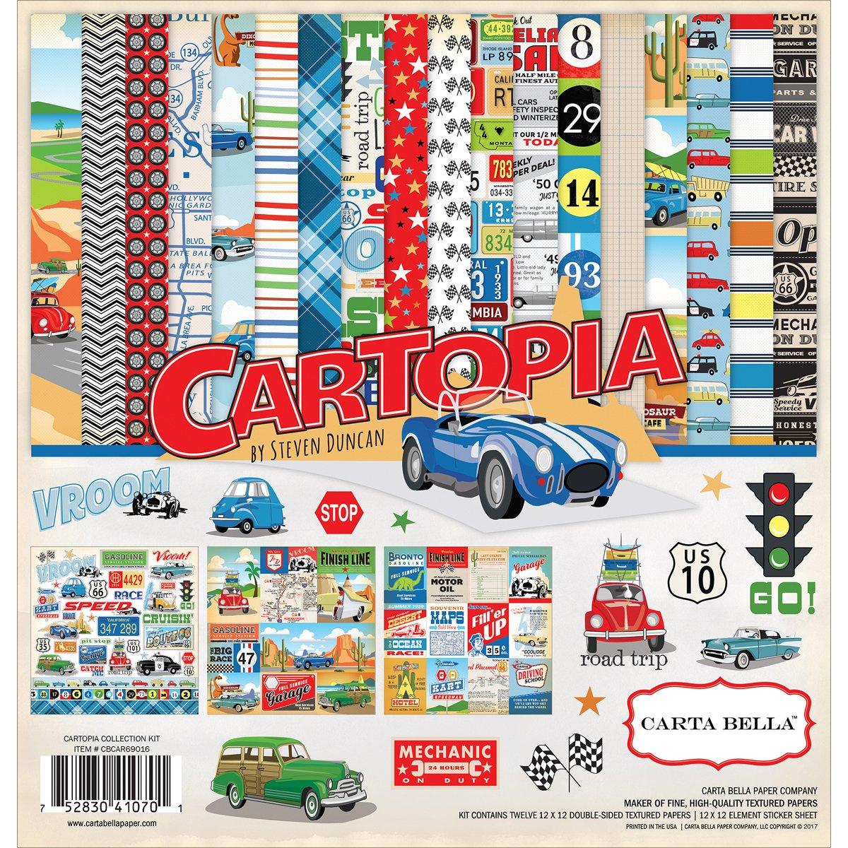 Carta Bella CBCAR69016 12 x 12 Car Collection Kit