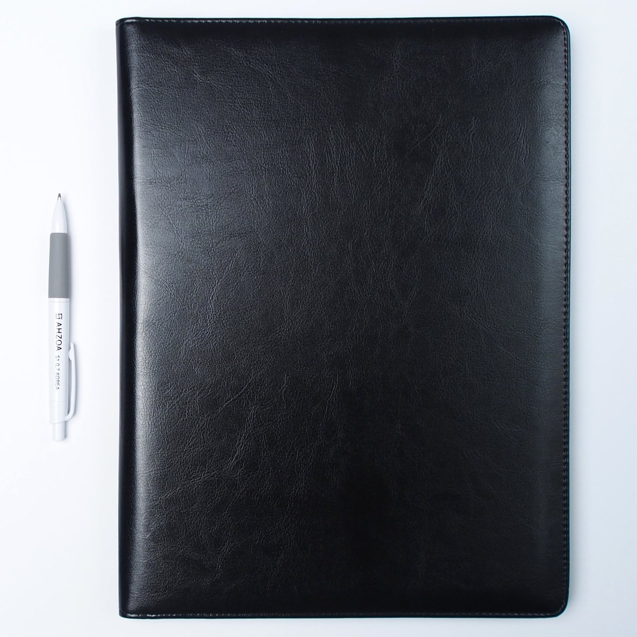 AHZOA 4 Pockets A4 Size Memo Padfolio S3 with Mechanical Pencil, Including 8.27 X 11.7 inch Legal Writing Pad, Synthetic Leather Handmade 9.84 X 12.99 inch Notepad Clipboard (Black) by AHZOA (Image #6)