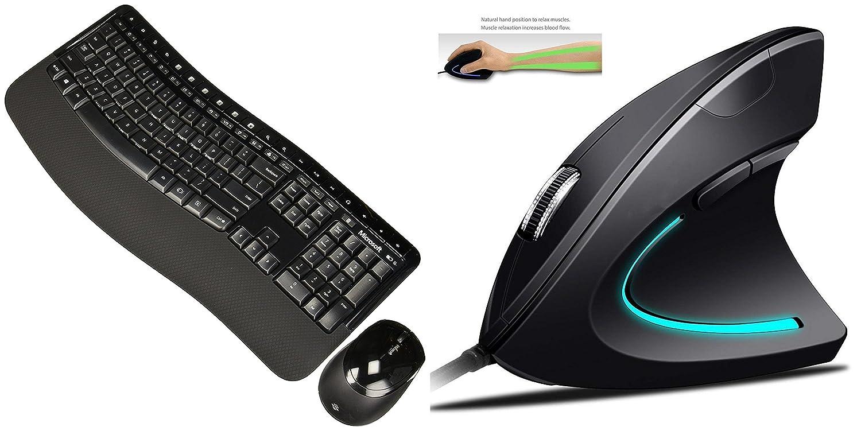 Microsoft – Wireless Comfort Desktop 5050 – GHz、6ボタン (pp4 – 00001 ) | ergy – The人間工学マウス – 光学式USB有線垂直マウス – 2.4 GHz、6ボタン – 調整可能なDPI B07FT7H59B, coen:1ae8cd5b --- elmont.su