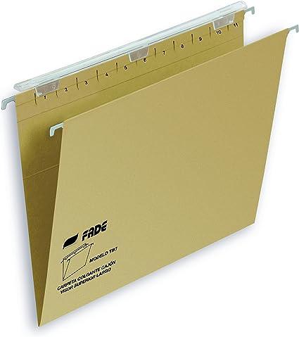 Elba Tiki - Caja de 25 carpetas colgantes para cajón, A4: Amazon.es: Oficina y papelería