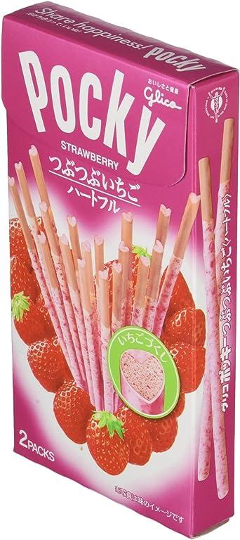 Pocky Snack Sabor Fresa Sticks Tsubutsubu Ichigo Heartful: Amazon.es: Alimentación y bebidas