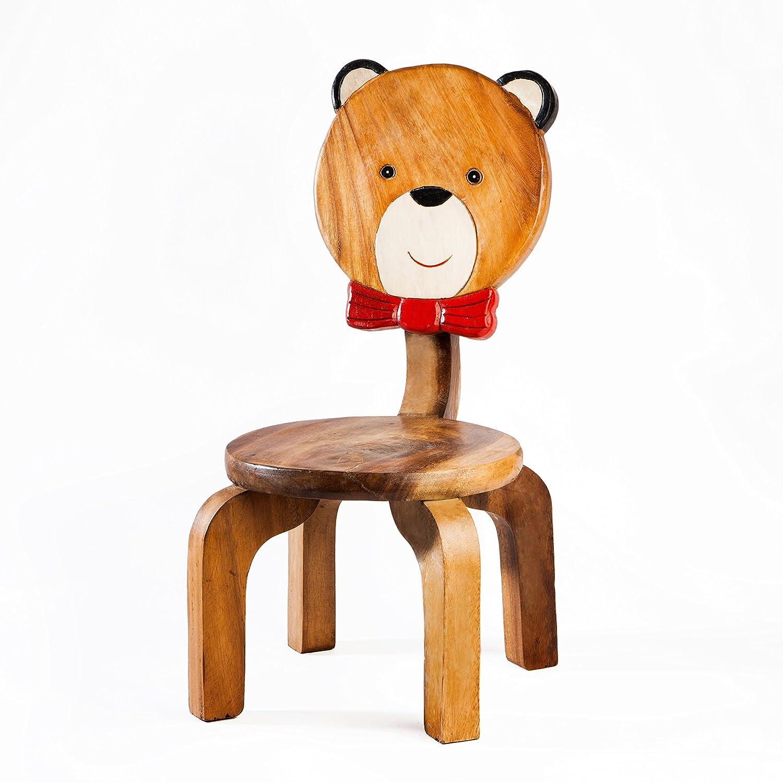 Robusta Sedia per Bambini, in legno, motivo: orso Fairentry
