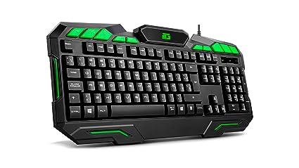 BG-Gaming Ranger Force - Pack Teclado y ratón, Color Negro y Verde: Amazon.es: Informática