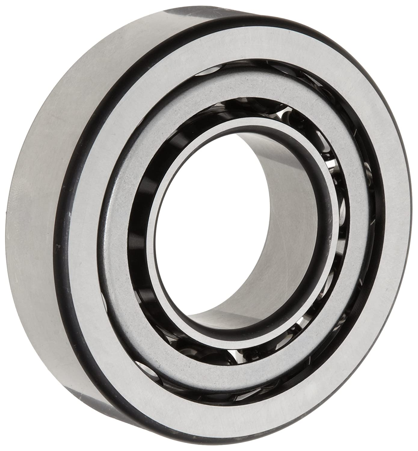 FAG 7307B-TVP-UA Angular Contact Ball Bearing, Single Row, Open, 40° Contact Angle, Polyamide/Nylon Cage, Normal Clearance, Metric, 35mm ID, 80mm OD, 21mm Width, 9500rpm Maximum Rotational Speed, 6000lbf Static Load Capacity, 8800lbf Dynamic Load Capac