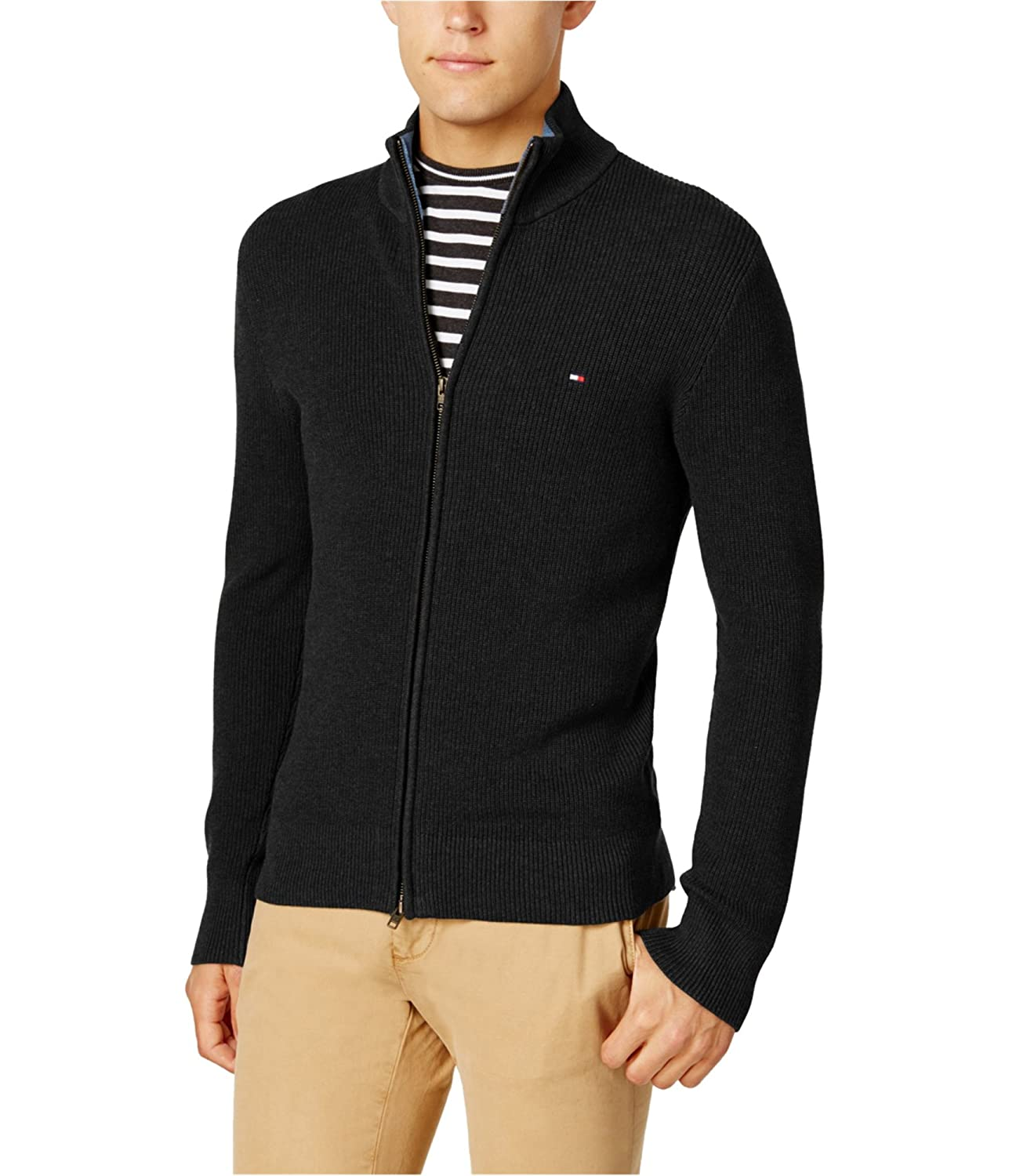Tommy Hilfiger Mens Textured Ls Cardigan Sweater 78B6336