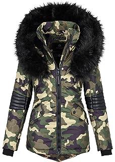 2405694c3bbd42 Navahoo Damen Winter Jacke Designer Parka Kunstfell Winterjacke B369