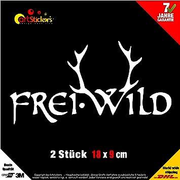 2 X Freiwild 18cm Aufkleber Weiss In 15 Farben Decal Car Window Vinyl Sticker Bonus 1 Stk Spilarts
