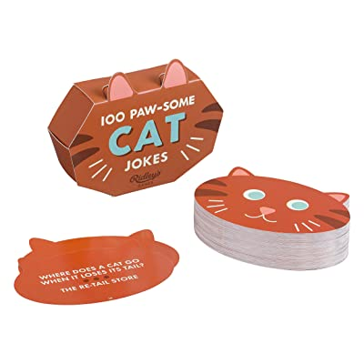 Ridley's Games 100 Paw-Some Cat Joke Cards for Adults and Kids: Toys & Games