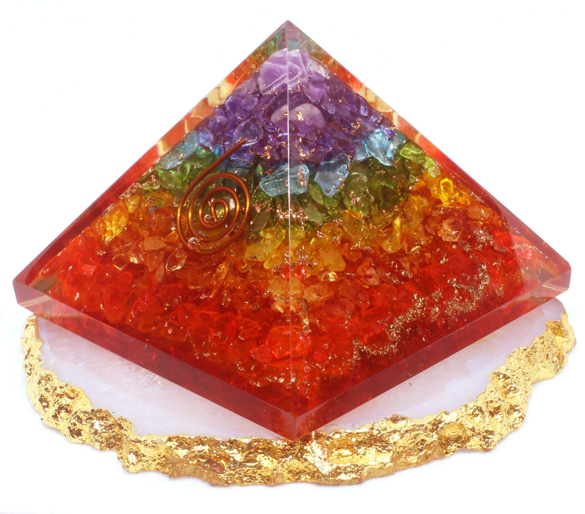 Orgone Pyramid - Healing Crystal based Orgonite Pyramid with Orgone Energy for Emf Protection - meditation - balancing chakra