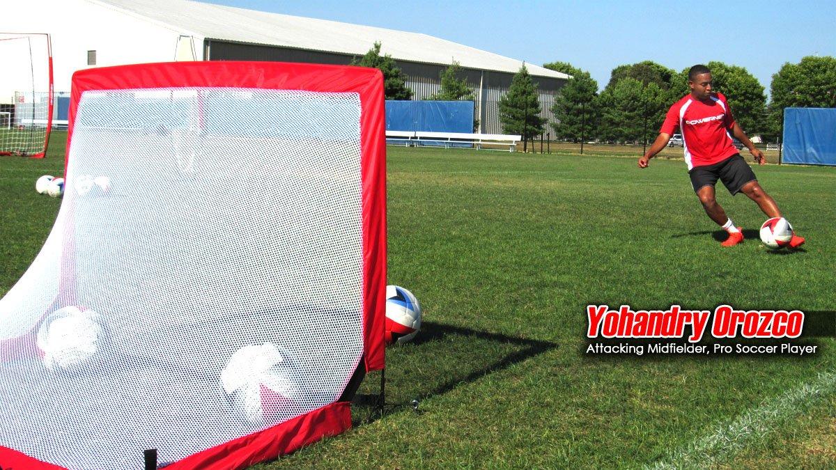 amazon com powernet soccer goal 4x3 portable pop up net 2 goals