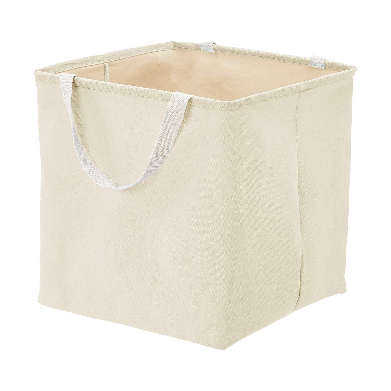 AmazonBasics Fabric Storage Bin - Large Cube, Natural