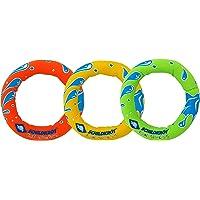 Schildkröt Neopren Diving Rings, 3 Tauchringe mit Sandfüllung, Ø 14cm, Gut zu Greifen, Stehen am Grund