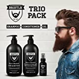 BRISTLR Beard and Moustache 300ml Shampoo, 300ml Conditioner & 30ml Oil