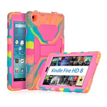 2d319e18ffa2c8 All-New Amazon Fire HD 8 Tablet Case, ACEGUARDER Shockproof Kidfrienly Full  Body Rugged