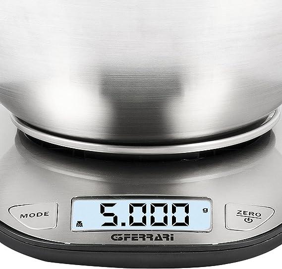 G3Ferrari G20093 Ginny Bilancia Pesa Digitale da Cucina con Ciotola 1 gr 5 Kg