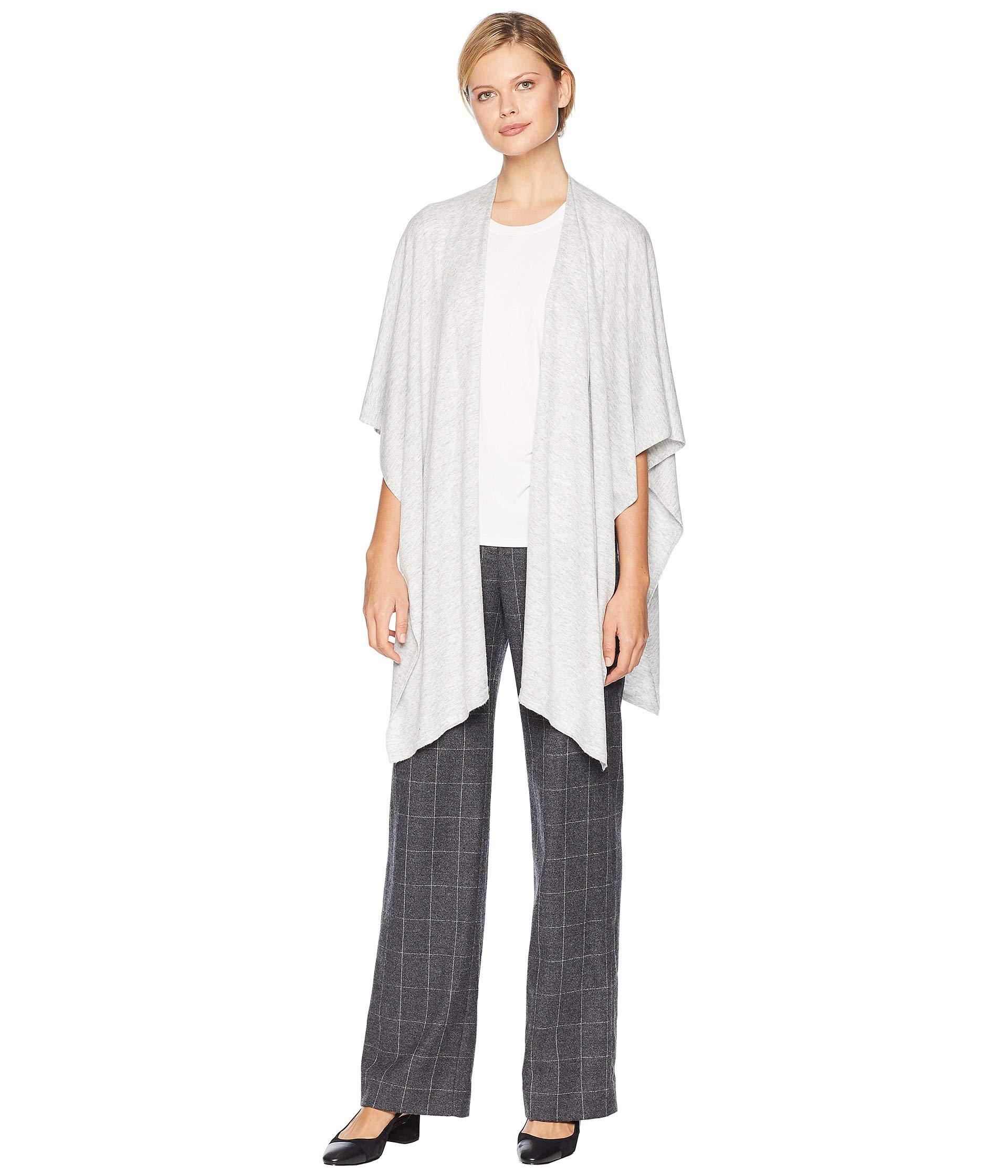 Echo Women's Everyday Ruana Wrap, Silver, One Size