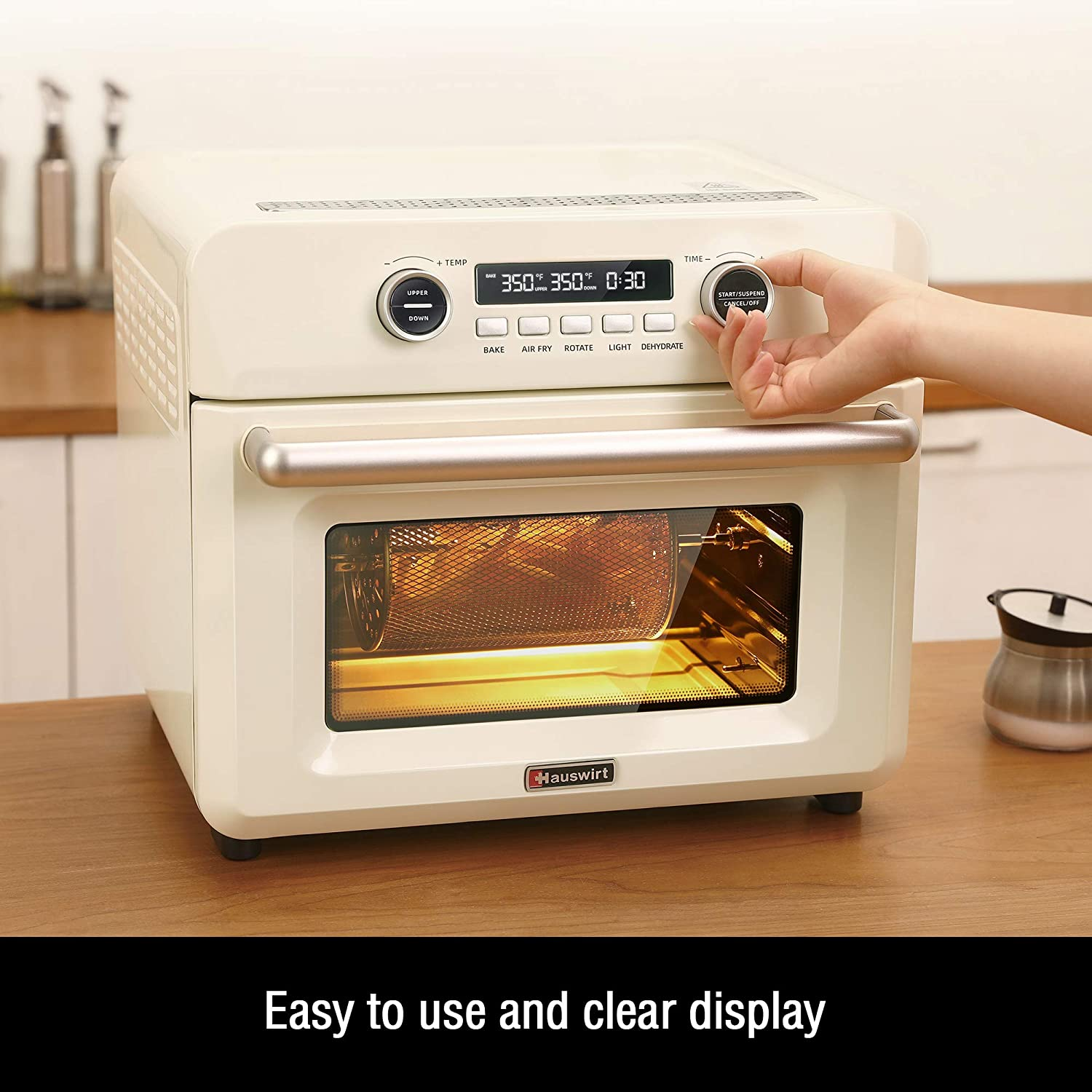 Fryers Kitchen & Dining Grill LCD Display For Air Fry Hauswirt ...