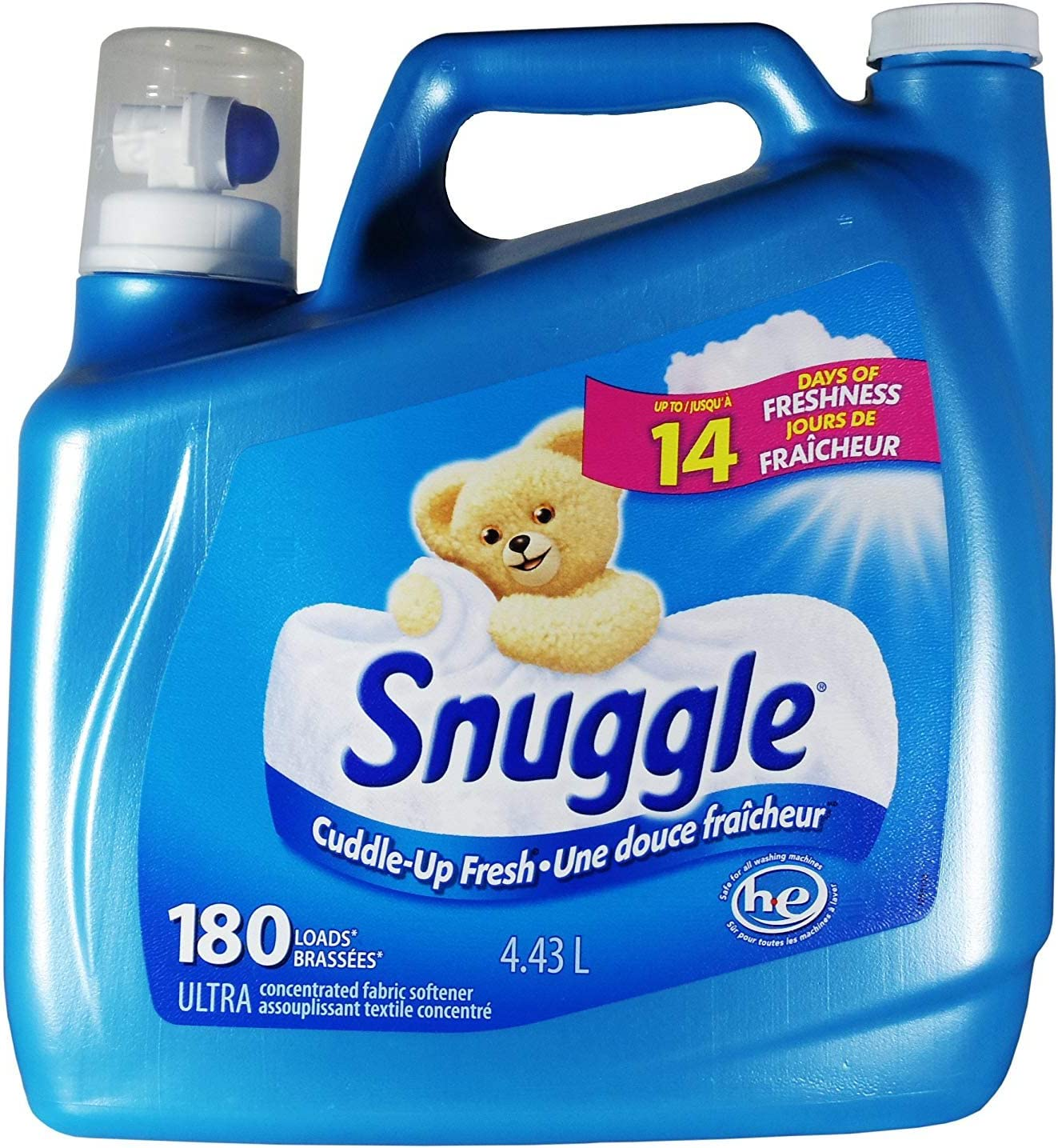 Snuggle Fabric Softener, 180 Load/150 Fluid Ounce