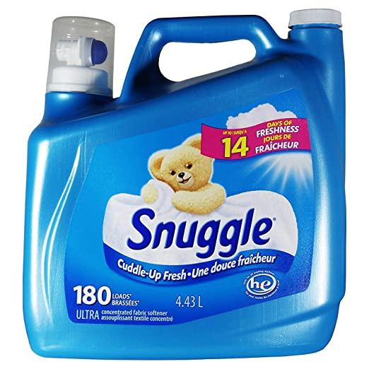 Amazon.com: Snuggle Fabric Softener, 14 Days Freshness 150 Fl oz - 180 Loads: Health & Personal Care