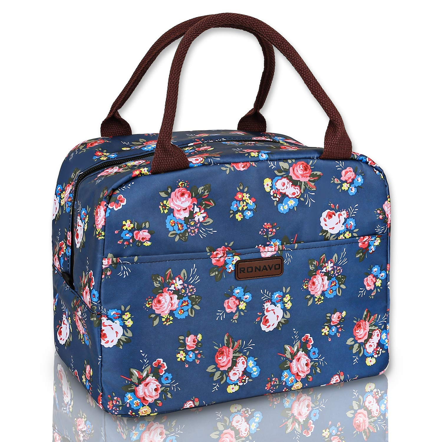 51caaa669d56 RONAVO Lunch Bag Cooler Bag Women Tote Bag Insulated Lunch Box  Water-Resistant Thermal Lunch Bag Soft Leak Proof Liner Lunch Bags for ...