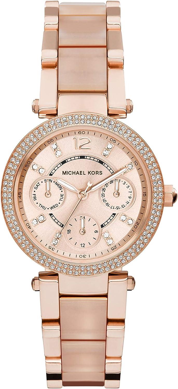 Michael Kors Women's Parker MK6110 Rose Gold Stainless-Steel Quartz Fashion Watch