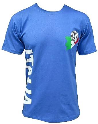 8a32361c06 Ticila Men T-Shirt Blue Italia Italy Forza Squadra Azzurra Azzurri Football  WM EM Soccer