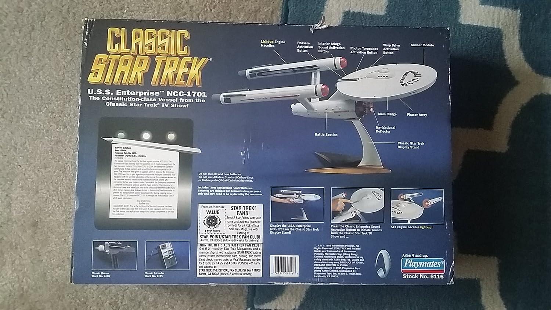 Playmates Classic Star Trek U S S  Enterprise With Actual
