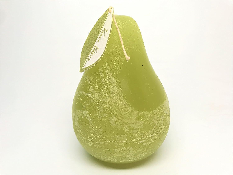Vance Kitira White Pear Shaped Timber Candle