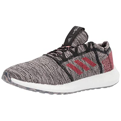 adidas Men's Pureboost Go, Black/Scarlet/Clear Orange, 12 M US: Shoes