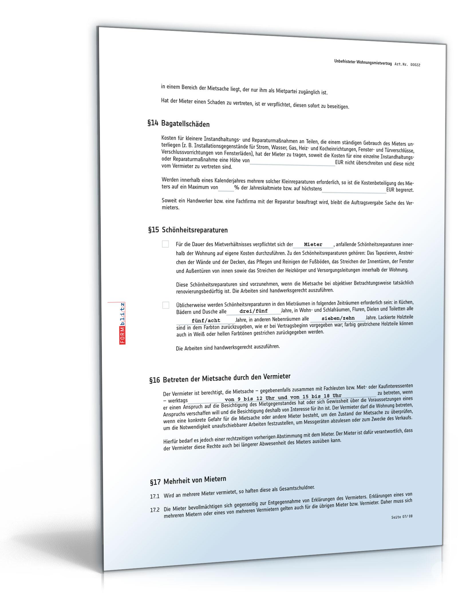 Mietvertrag Muster Zum Download Doc Download Amazonde Software