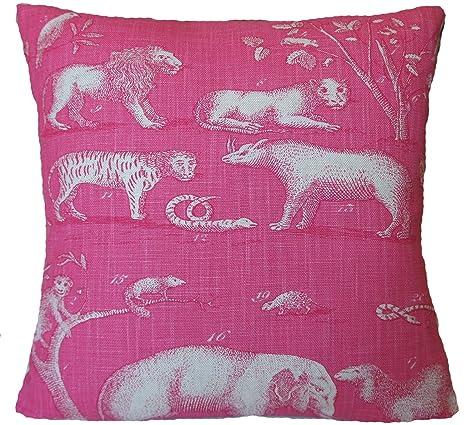 Funda de Cojín con Diseño de Animales de Londres de Tela ...