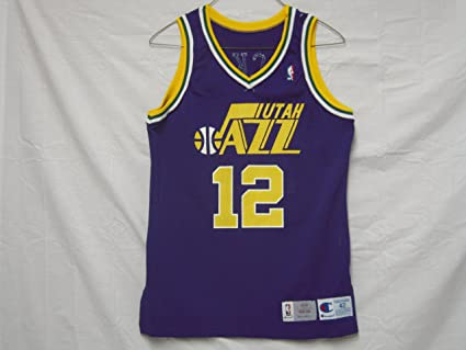 9cab4510c9f Image Unavailable. Image not available for. Color  1993-94 Utah Jazz  12  John Stockton Game Worn Jersey