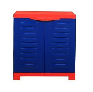 Supreme Fusion 01 Small Cupboard, Red & Blue