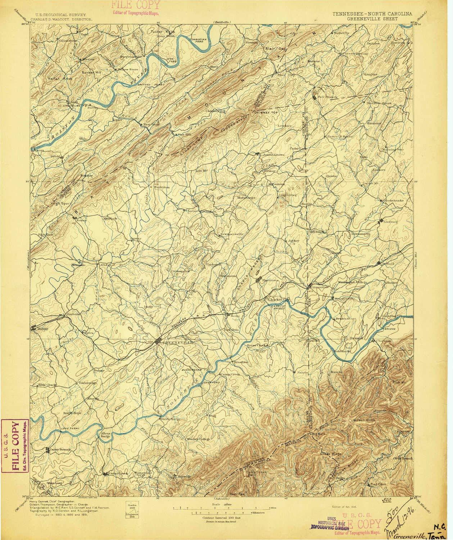 Amazon.com: YellowMaps Greeneville TN topo map, 1:125000 ... on